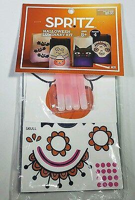 New Spritz Halloween Luminaries Kit - Vellum Bags Glow Sticks Sticker 4 Count  - Halloween Luminaries Bags