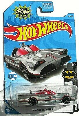 2019 HOT WHEELS TV SERIES BATMOBILE 1966 BATMAN CLASSIC SILVER - RARE / VHTF