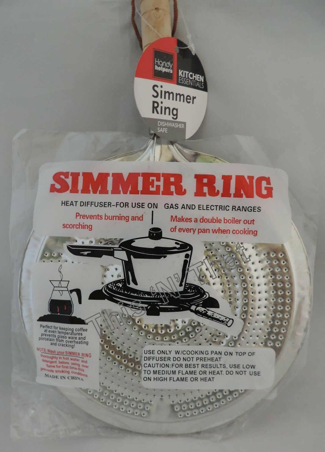 Stove top Metal Simmer Ring Heat Diffuser for Use on Gas and