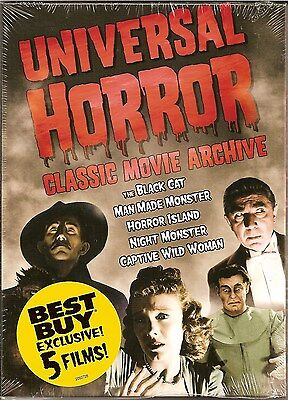 Universal Horror: Classic Movie Archive (DVD, 2007) Best Buy Exclusive 5 Films](Best Classic Horror Movies)