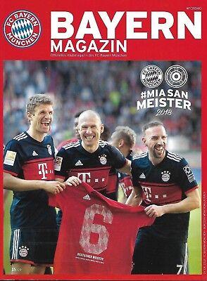 Bayern Magazin 14.04.2018 Offizielles Klubmagazin FCB - Borussia Mönchengladbach