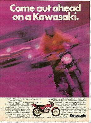 1972 Kawasaki Vintage Magazine Ad Kawasaki Mach II 350