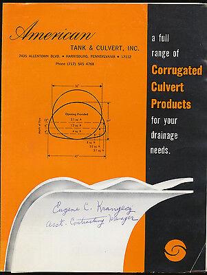 American Tank Culvert Sales Brochure - Corrugated Culvert Products