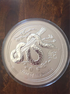 10kg Silver Coin - Year of the Snake The Vines Swan Area Preview