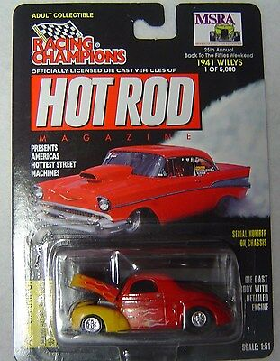 MSRA 1941 Willys Red with Flames SHIP WW