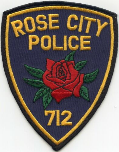 ROSE CITY MICHIGAN MI Red Rose POLICE PATCH