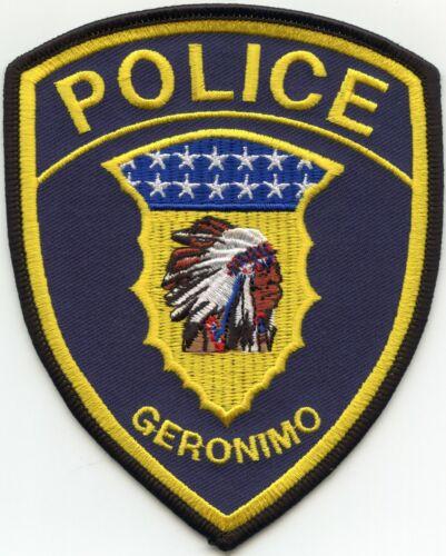 GERONIMO OKLAHOMA OK Indian POLICE PATCH
