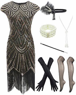 1920s Plus Size Flapper Dress (1920s Plus Size Roaring 20's Costume Flapper Gatsby Party Evening Cocktail)