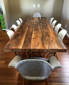 Hand Crafted Reclaimed Barn wood tables