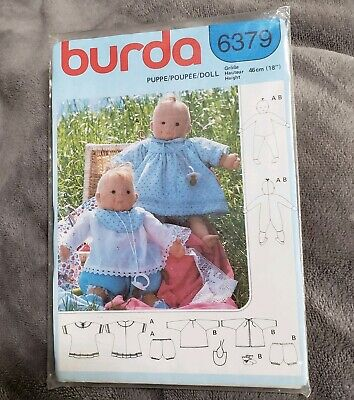 Burda 6379 Baby Doll & Clothes Pattern For 18