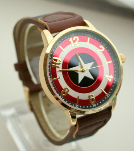 Comics Captain America Shield Watch Men