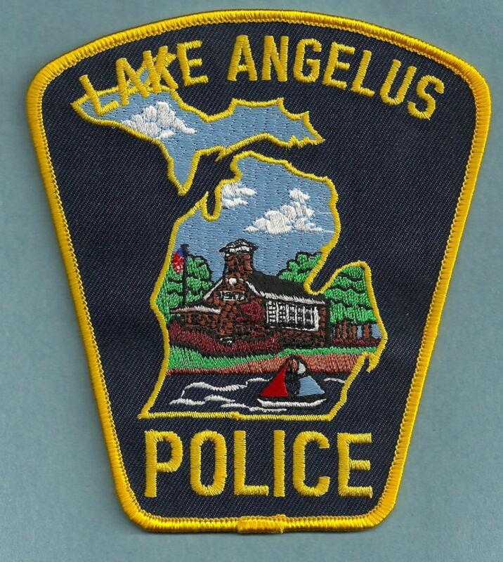 LAKE ANGELUS MICHIGAN POLICE SHOULDER PATCH NICE!