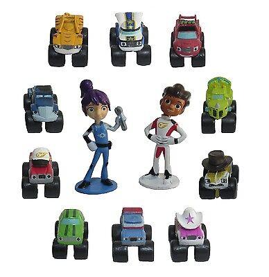 Blaze & Monster Machines Playset 12 Figure Cake Topper * USA SELLER* Toy Set](Monster Machines)