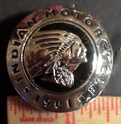 Indian motorcycle screw-back concho vintage collectible old USA cycle accessory