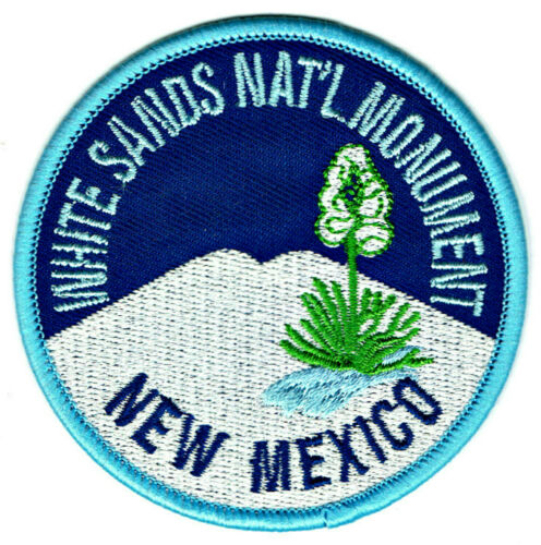 ⫸ White Sands National Monument Park Embroidered Iron-on Patch New Mexico NM P36