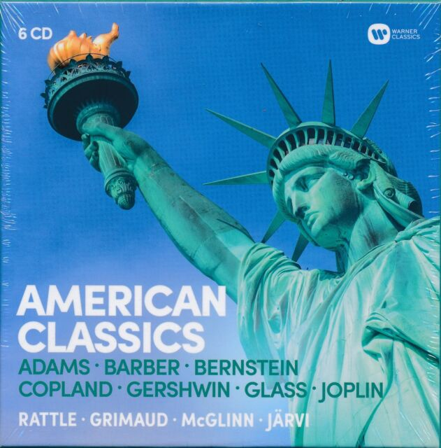 American Classics box CD NEW Rattle Grimaud McF+Glinn Jarvi Adams Copland
