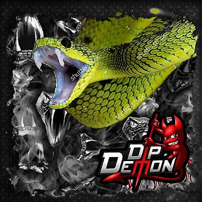 Black Transparent Viper Snake Film Hydrographic Water Transfer Hydro Dipping