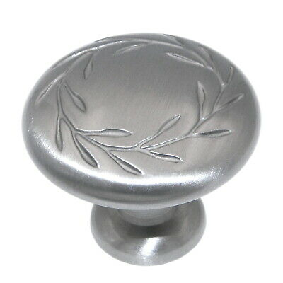 Amerock Nature's Splendor Satin Nickel Leaf Cabinet Pull Knob BP1581-2-G10 Amerock Nature Cabinet Knob