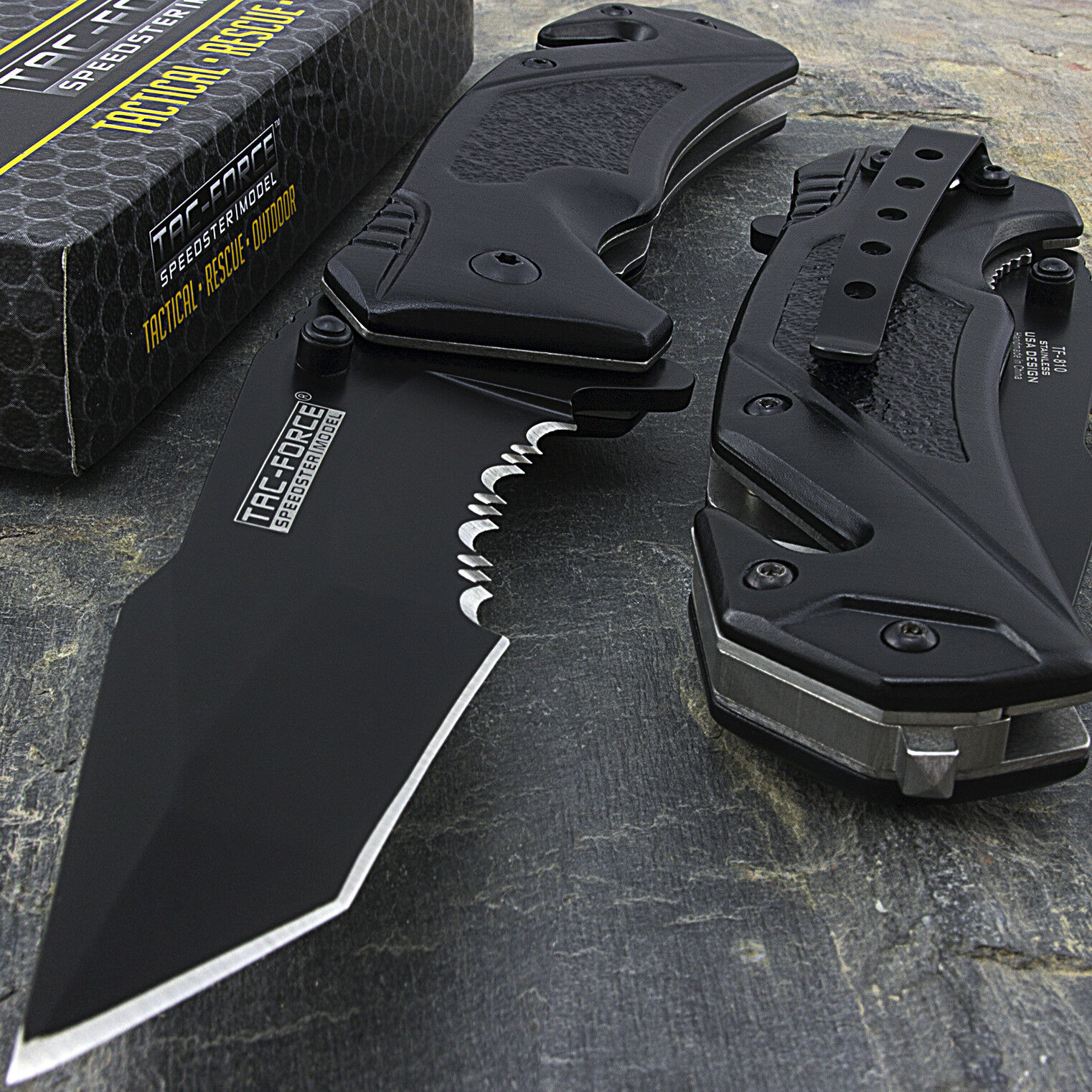 Купить Tac-Force - 8.25 TAC FORCE TANTO SPRING ASSISTED TACTICAL FOLDING POCKET KNIFE Open Assist
