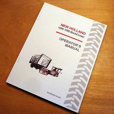 New Holland 1068 1069 Stackcruiser Bale Wagon Operators Owners Book Manual Nh