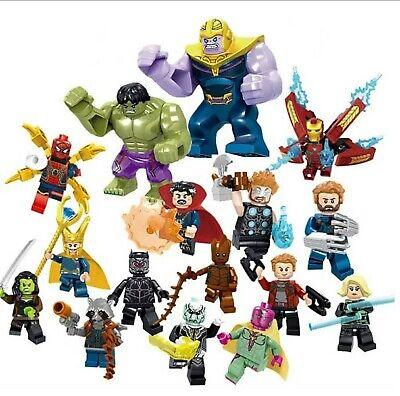 16pc/lot Marvel Super Heroes Avengers Infinity War Mini Figures