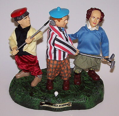 The Three Stooges Animated Golf Scene Statue NIB 2002](Three Stooges Golf)