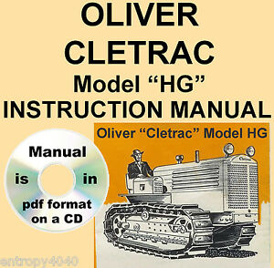 Oliver-Cletrac-HG-Tractor-Instruction-Operators-Maintenance-Manual-SEARCHABLE-CD