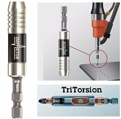 WERA Magnetic Stainless IMPAKTOR TRI-Torsion Impact Driver Bit Holder, 057675