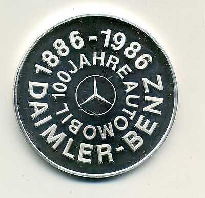 Medaille 100 Jahre Automobil Daimler Benz 1886 - 1986 Silber 1000 m Etui M_1049