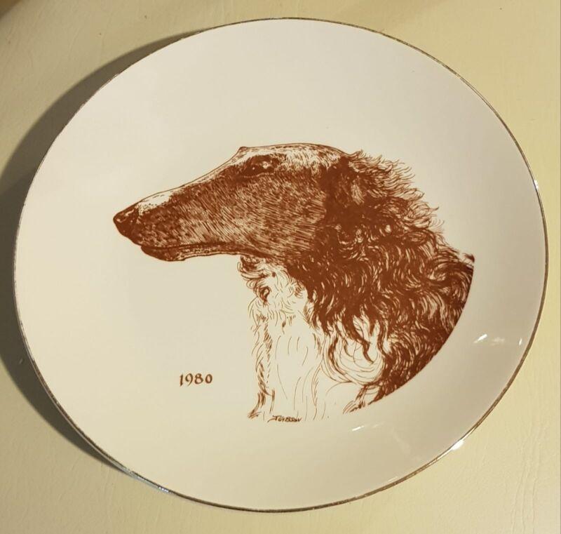 Borzoi/Russian Wolfhound, Borzoi Club Of America Collectible Plate.