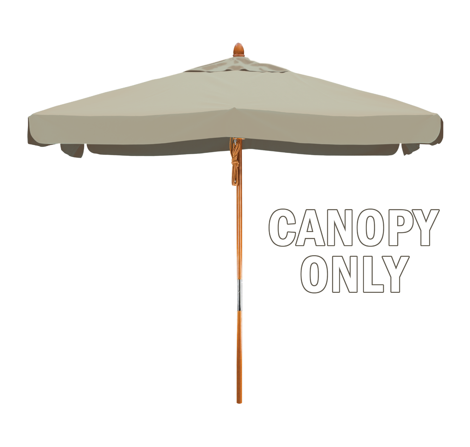 Square Replacement Poly Patio Umbrella