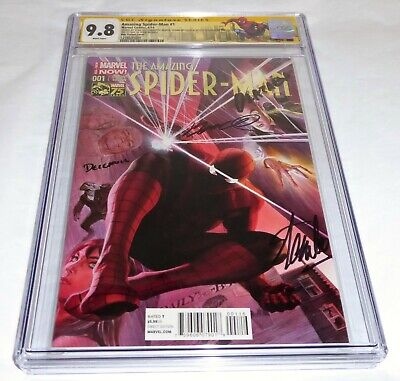 Amazing Spider-Man #1 CGC SS Signature Autograph STAN LEE ROSS Variant 1:75 FDI
