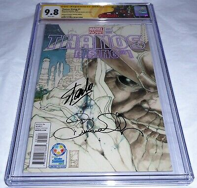 Thanos Rising #1 CGC SS Signature Autograph STAN LEE Diamond Retailer Edition 🔥