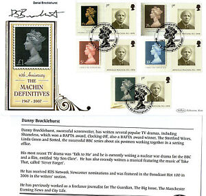 2007-40th-ANNIVERSARY-MACHIN-SIGNED-DANIEL-BROCKLEHURST-BENHAM-FIRST-DAY-COVER