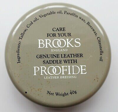 Brooks Proofide Leather Dressing 40g Tin approx 10g left