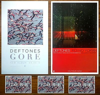 DEFTONES Gore | Koi No Yokan 2016 Ltd Ed RARE 2 Posters + 3 Stickers Lot! Metal