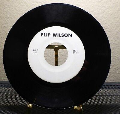 45 Rpm 7  Flip Wilson Comedy Routine Spoken Word Sk 1 Rare 45 Comedian Item
