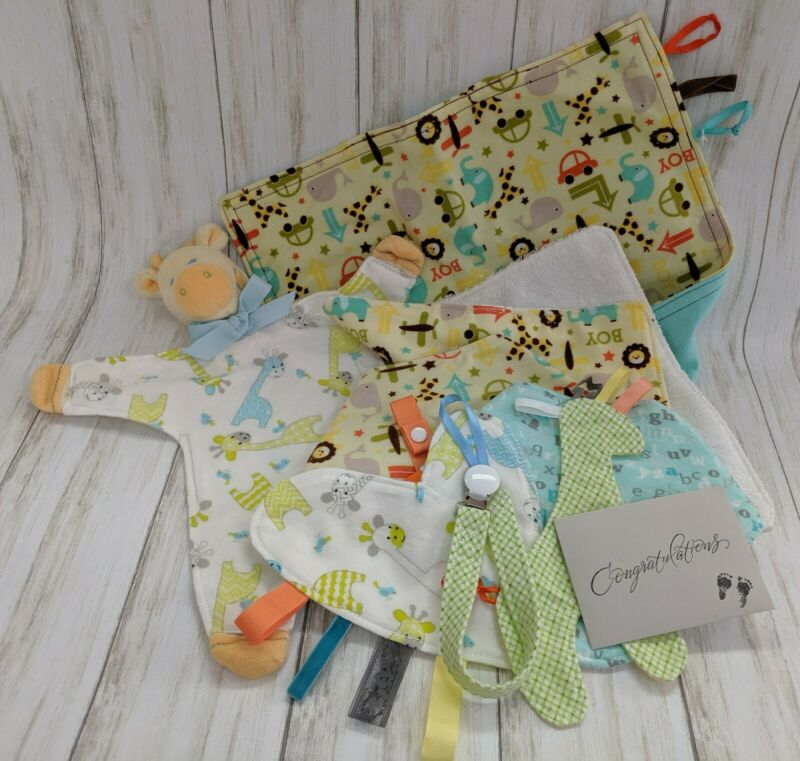 Baby Boy Gift Set, (all items handmade)