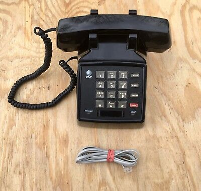 Lucent 2500 Ymgl Att Single Line Analog Telephone Black Excellent Condition