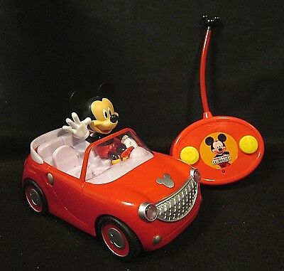 Mickey Mouse Clubhouse MICKEY'S ROADSTER Radio Control R/C Car w/ Remote - Works](Mickey Mouse Remote Control Car)