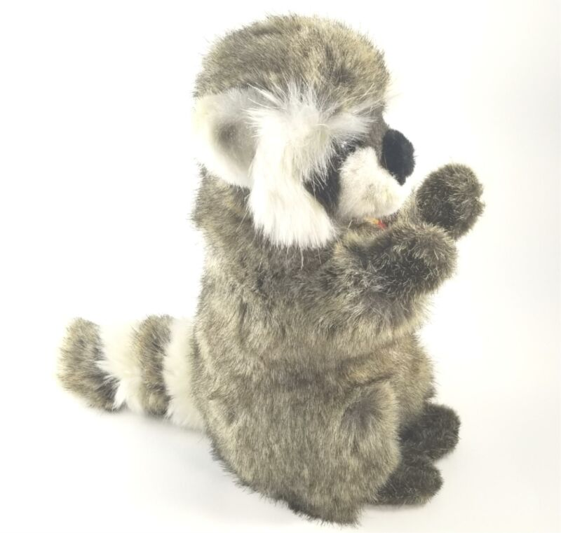 """Original Steiff """"Raggy"""" Raccoon Plush w/ Tags, Excellent Condition, Germany"""