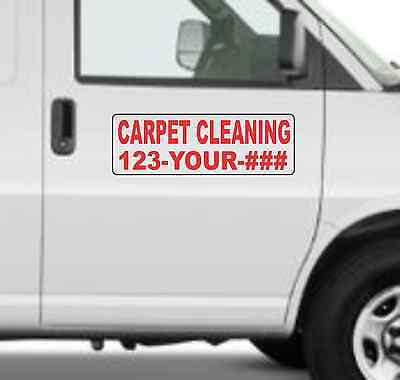 Custom Carpet Cleaning Magnetic Signs For Car Truck Suv 6x18 Phone Or Web Site