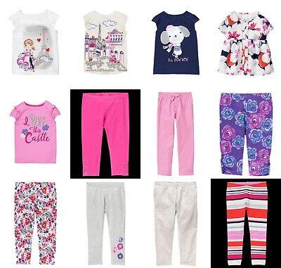 NEW GYMBOREE girls EIFFEL FLOWERS tee leggings pants size 3T 4T 5T YOU PICK