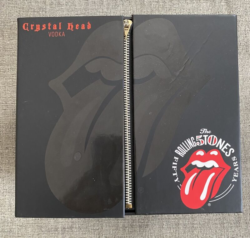 Crystal Head Rolling Stones Box Only With New CD Collectible