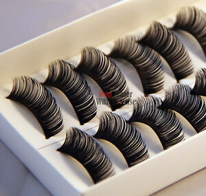 10-Pairs-Thick-Natural-Fake-False-Eyelashes-Eye-Lashes