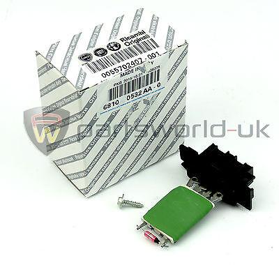 Fiat Grande Punto Heater Motor Resistor New & 100% GENUINE 55702407