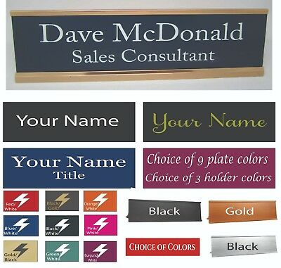 Personalized Engraved Desk Name Plate Choice Of Colors