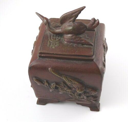 Antique Chinese Bronze Hinged Snuff Box