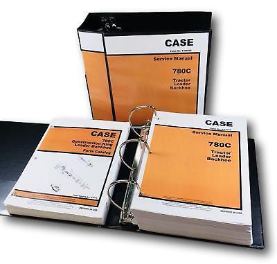 Case 780c Ck Tractor Loader Backhoe Service Manual Parts Catalog Shop Book Set