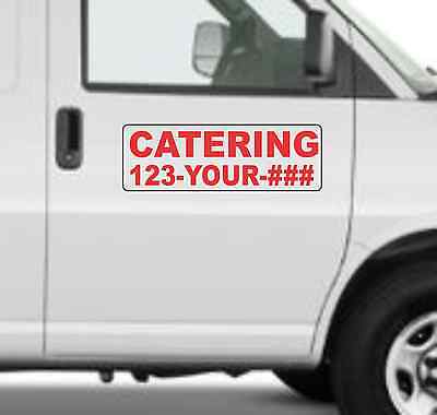 Custom Catering Magnetic Signs For Car Truck Suv 6x18 Phone Or Web Site
